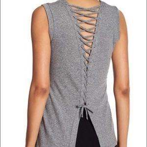 Rachael Roy grey tank top